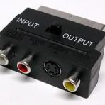 Perėjimas SCART input/autput – 3RCA