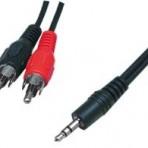 Kabelis analoginio garso signalui 3.5mm – 2xRCA