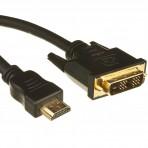 Kabelis HDMI 19pol – DVI-D kištukai
