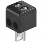 Kištukas kolonėlėms 2 kontaktai, kabelinis, prisukamas