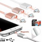 Magnetinis micro USB kabelis 2.4A 1m