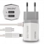 HXLIDU micro USB + lightning kroviklis