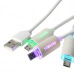 Šviečiantis Samsung Micro USB laidas